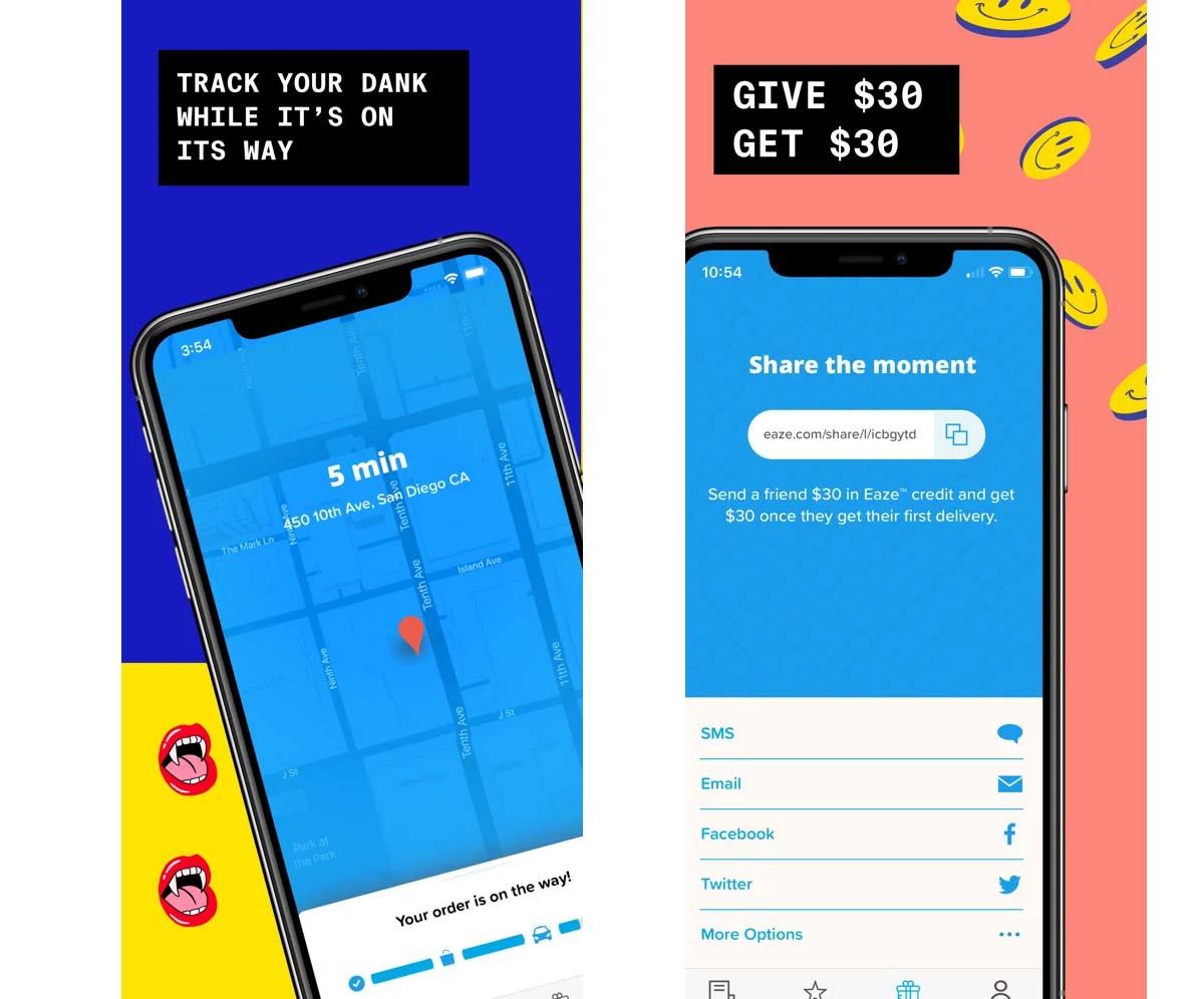 Prima app per consegna cannabis sull'App Store