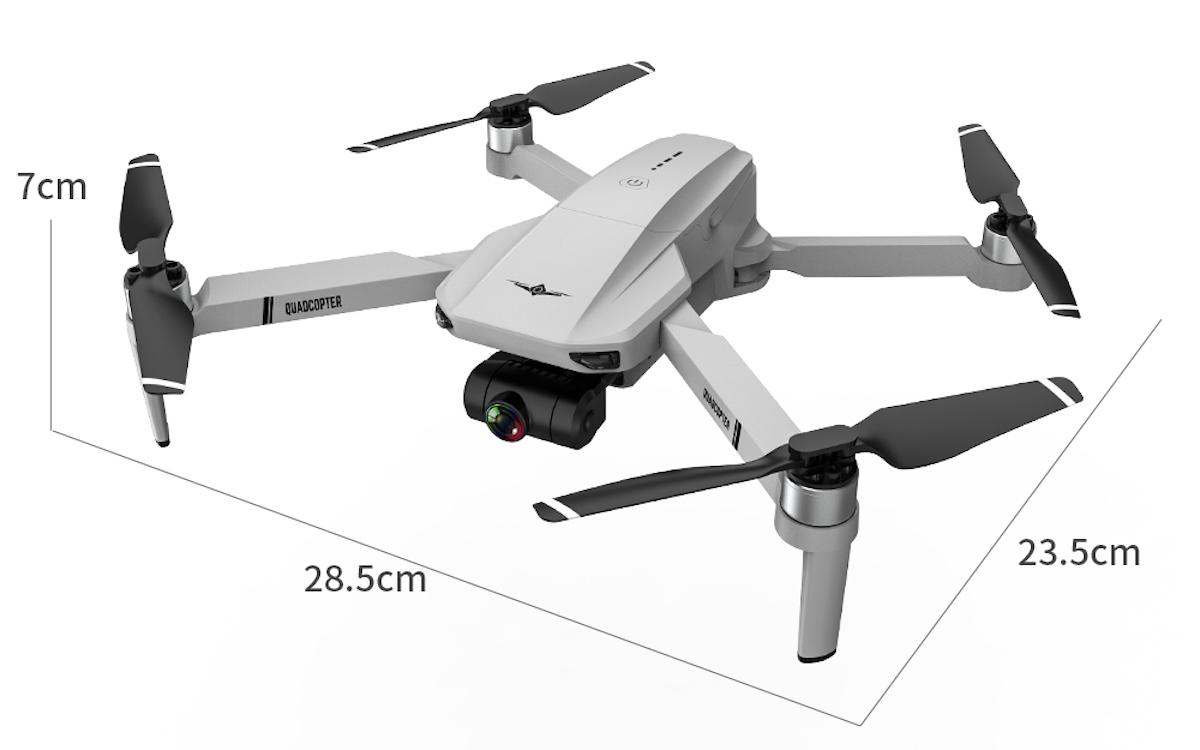KF102 è il drone brushless ispirato al DJI Mavic con camera stabilizzata: offerta lampo 133 euro