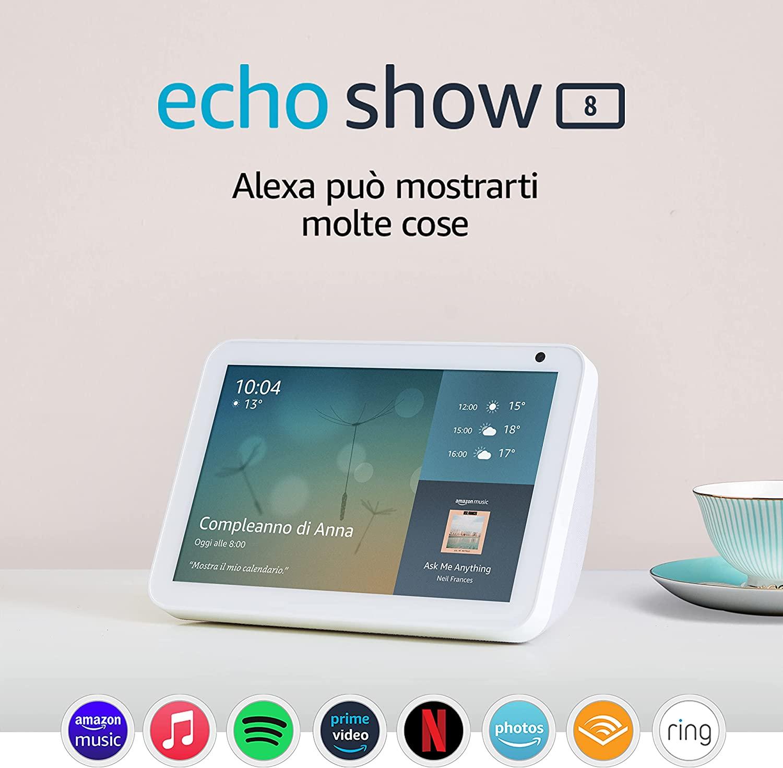 Echo Show 8 in sconto: 74,99 euro invece che 109,99 euro