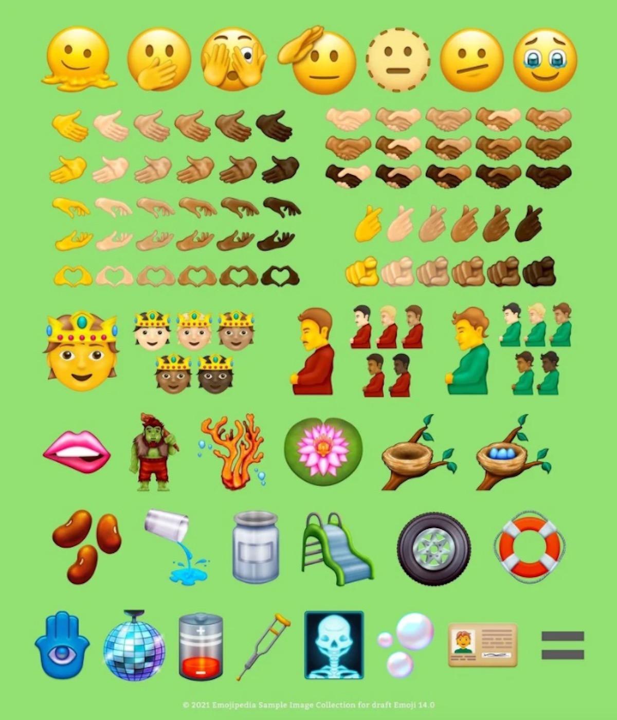 Ecco le nuove emoji Unicode 14 candidate per iPhone