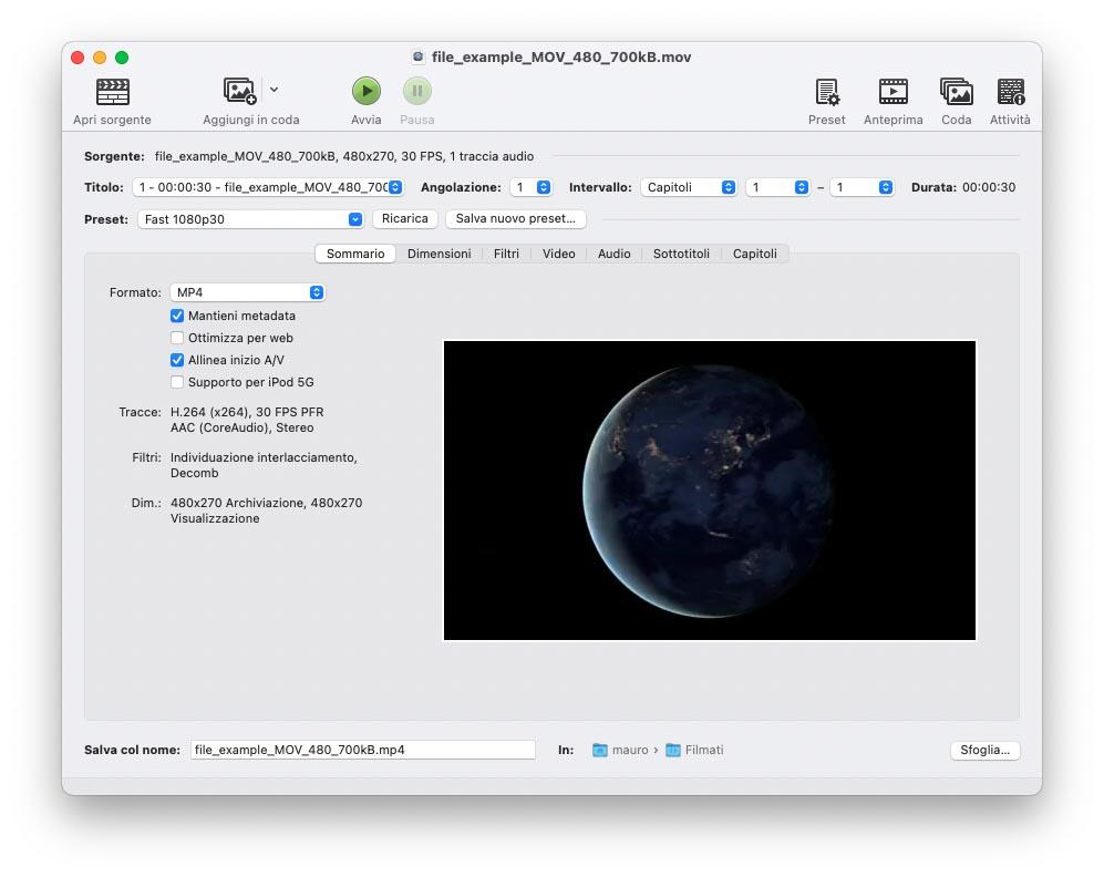 Handbrake 1.4 ottimizzato per i Mac con M1
