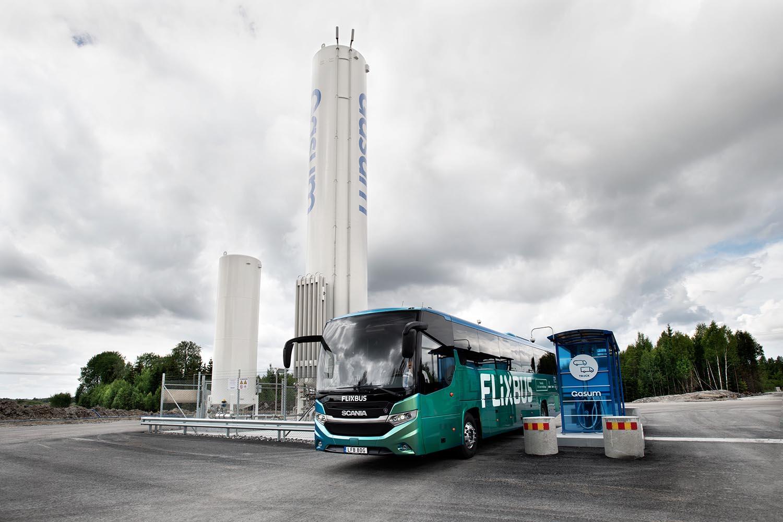 Flixbus, un autobus a biogas sulla rotta Stoccolma-Oslo