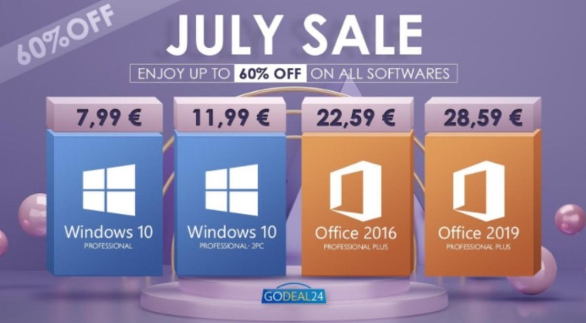 Windows 10 costa solo 6€, Office solo 15€: offerte da non perdere