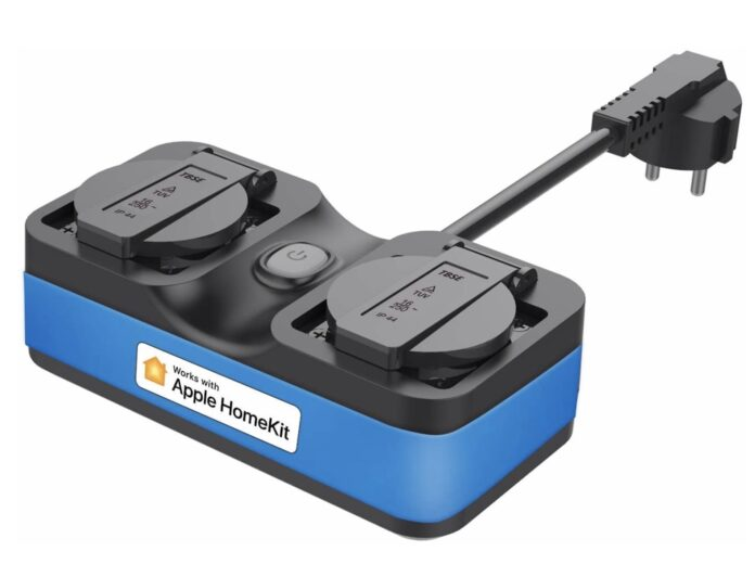 Doppia presa smart Meross IP44 da esterno: compatibile Homekit Alexa e Google