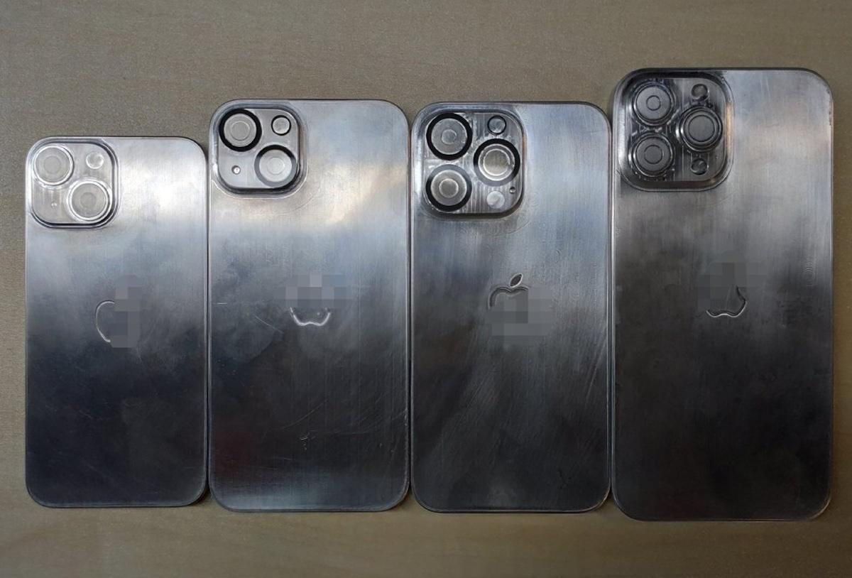iPhone 13, tutti i modelli degli stampi mostrati in foto