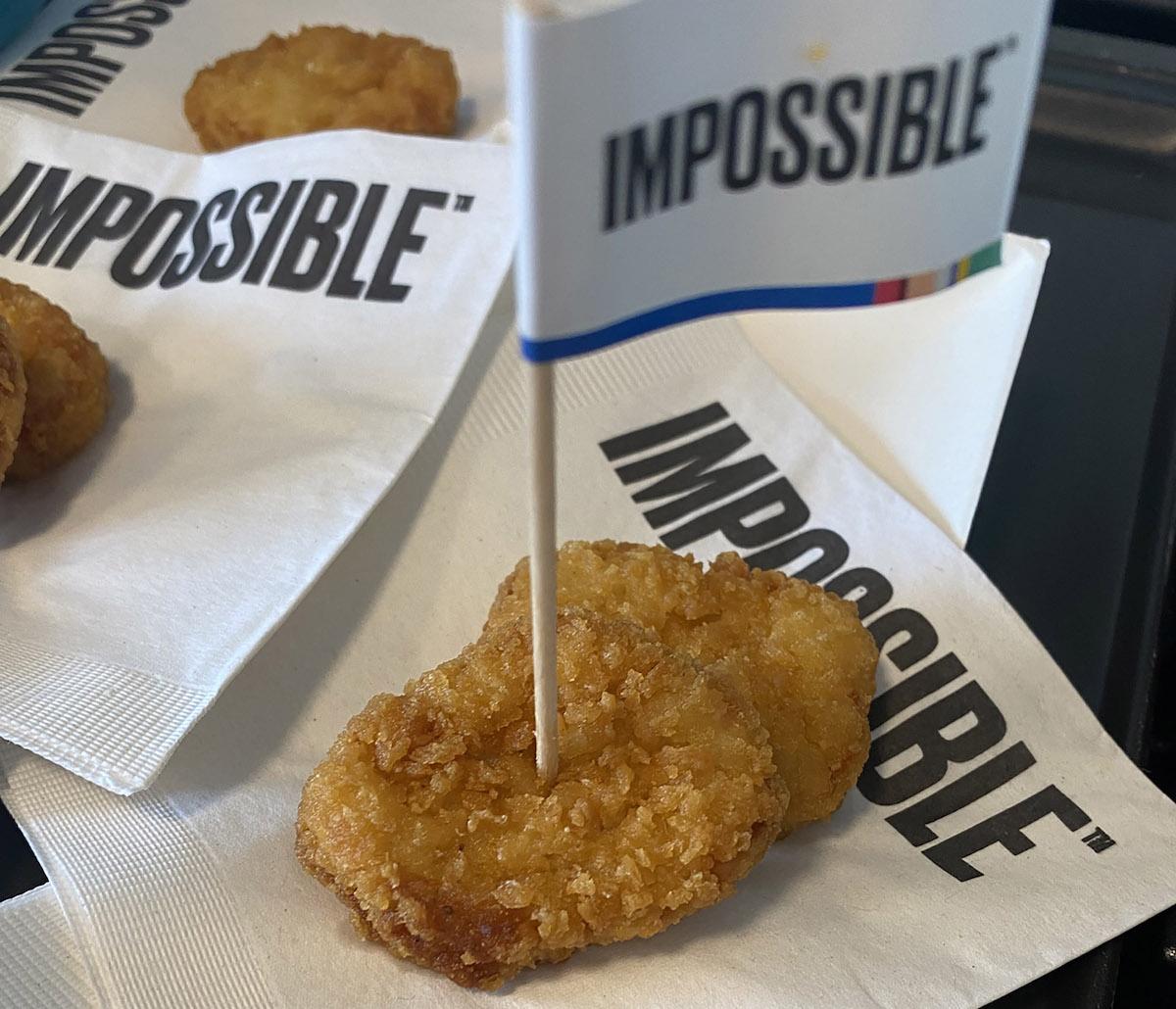 In autunno Impossible Foods lancerà le sue crocchette di pollo