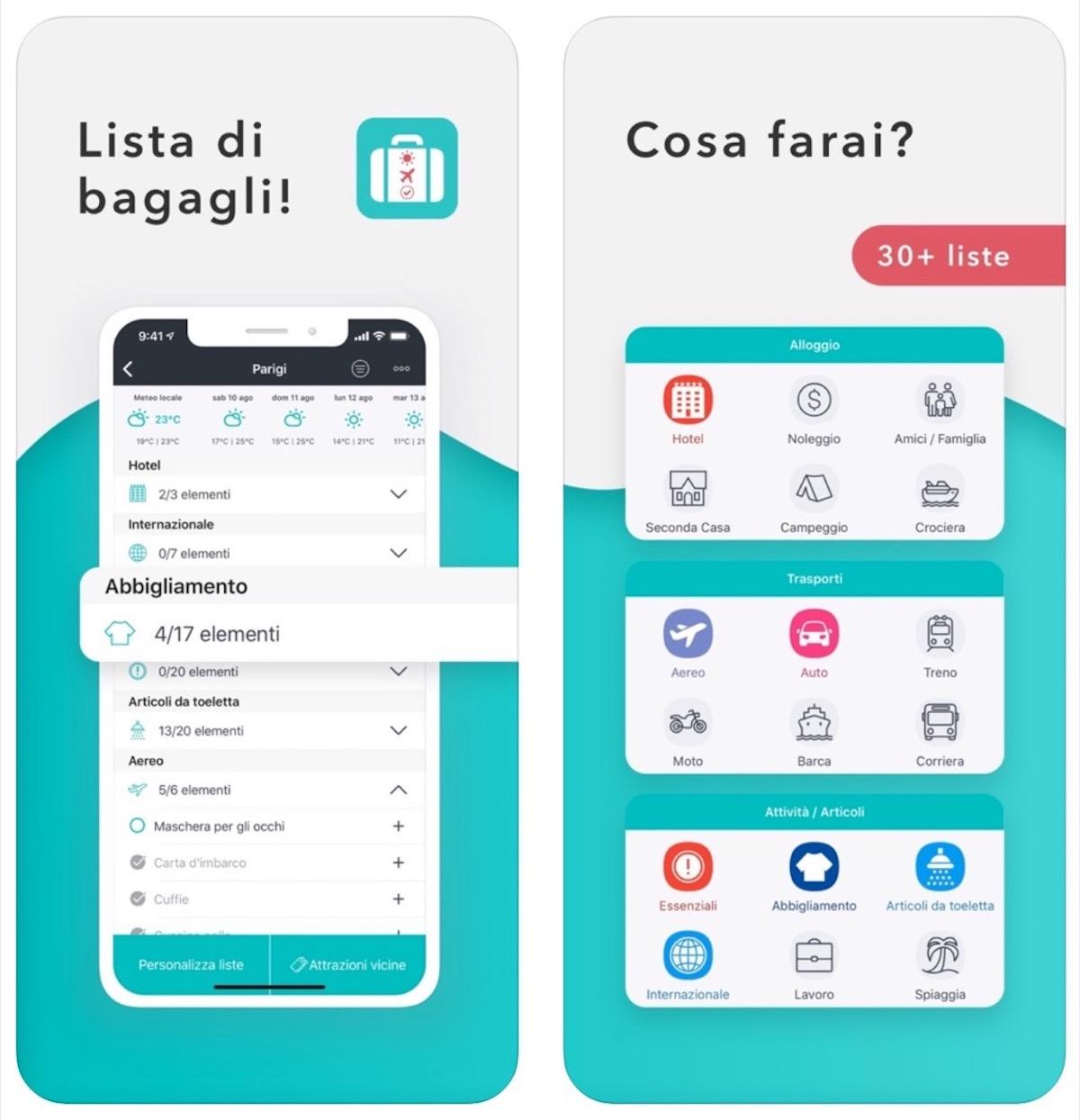 L'app Packr vi dice cosa mettere in valigia