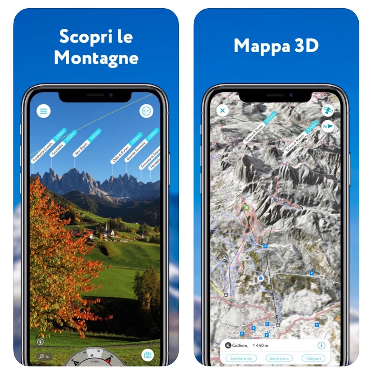 PeakVisor, l'app per orientarsi all'aperto che riconosce le montagne