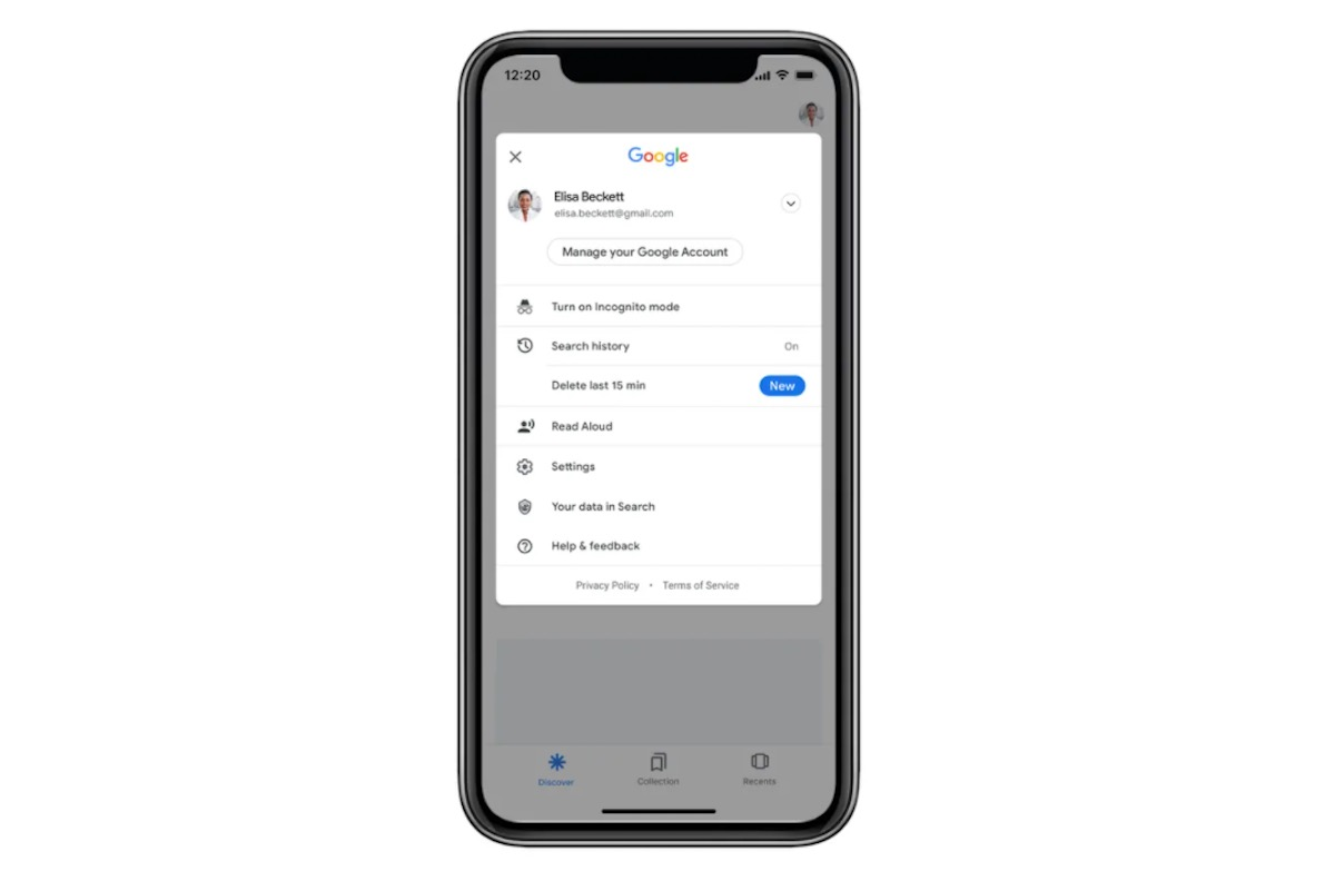 Google, arriva il tasto per eliminare 15 minuti di cronologia