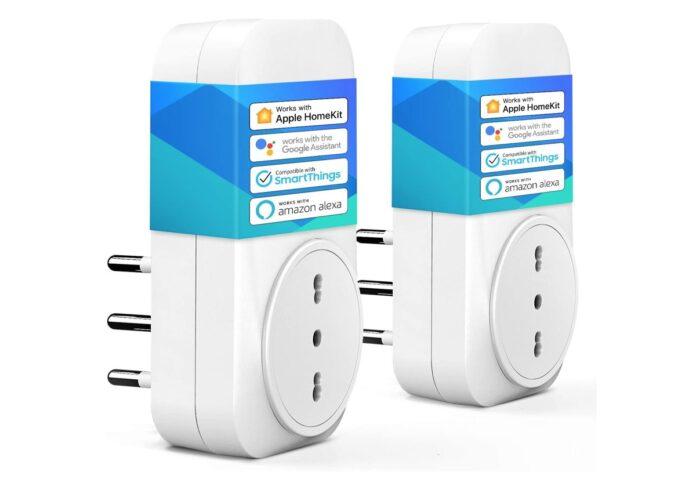 Due prese smart doppie compatibili HomeKit: meno di 10 Euro l'una