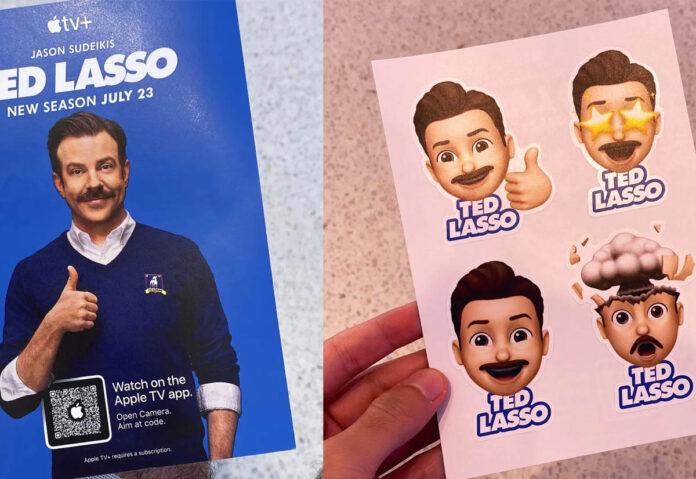 In alcuni Apple Store regalano gli sticker di Ted Lasso