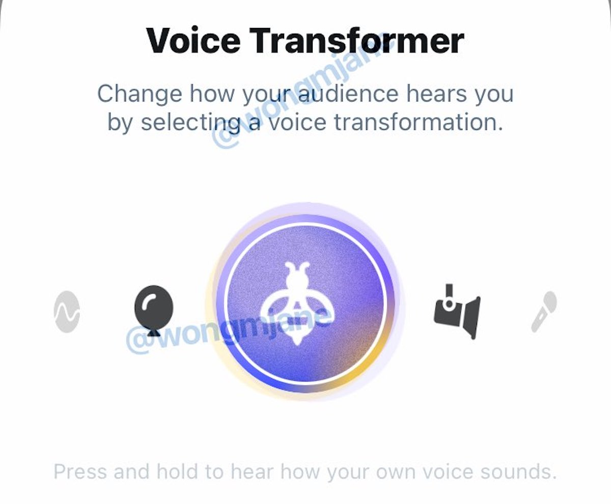 Twitter Spaces permetterà presto di manipolare il suono della voce