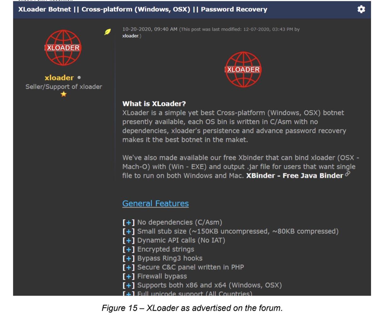 XLoader è un malware WIndows convertito anche per Mac