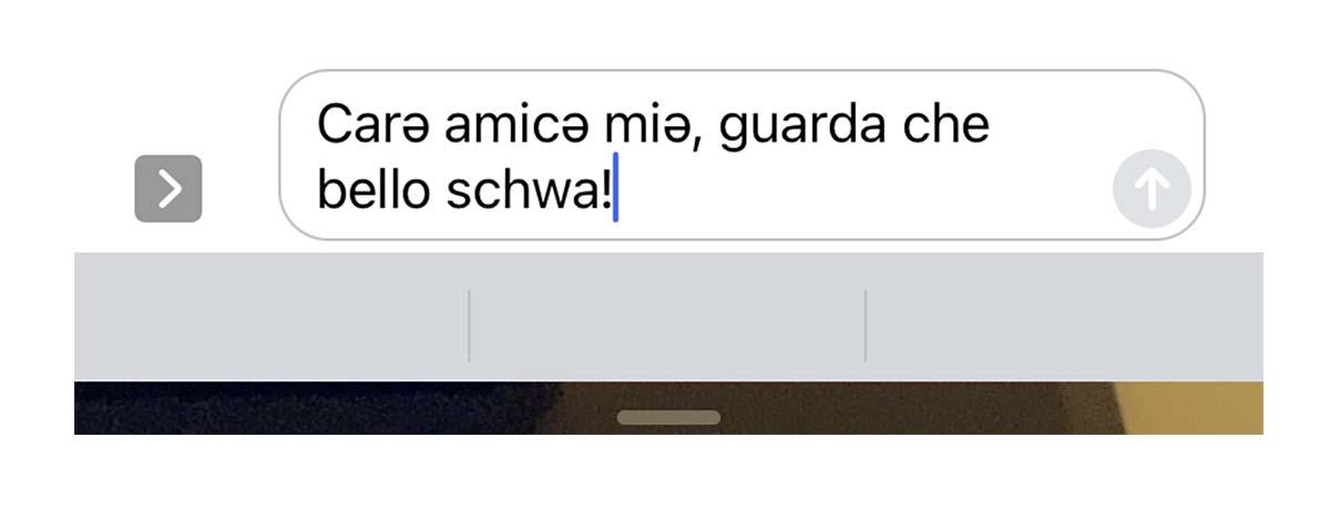 iOS 15 ora permette di digitare lo schwa (ə)