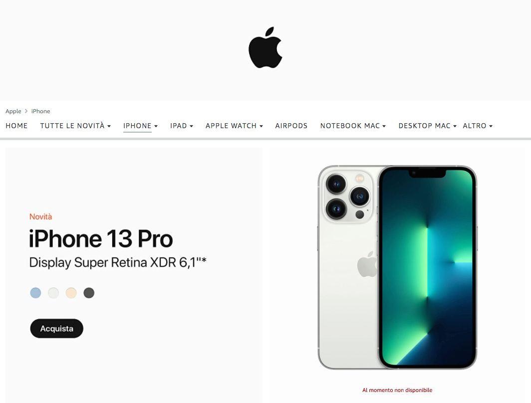 Amazon lancia gli iPhone 13: spedizione il 24 settembre
