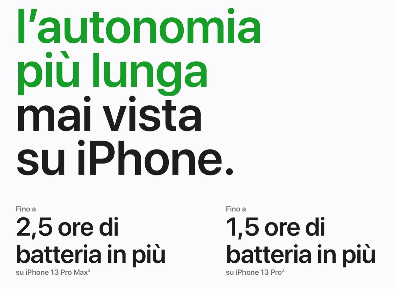 iphone 13 pro max batteria