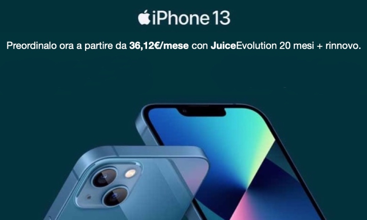 Da juice gli iPhone 13 si preordinano anche a rate e con permuta
