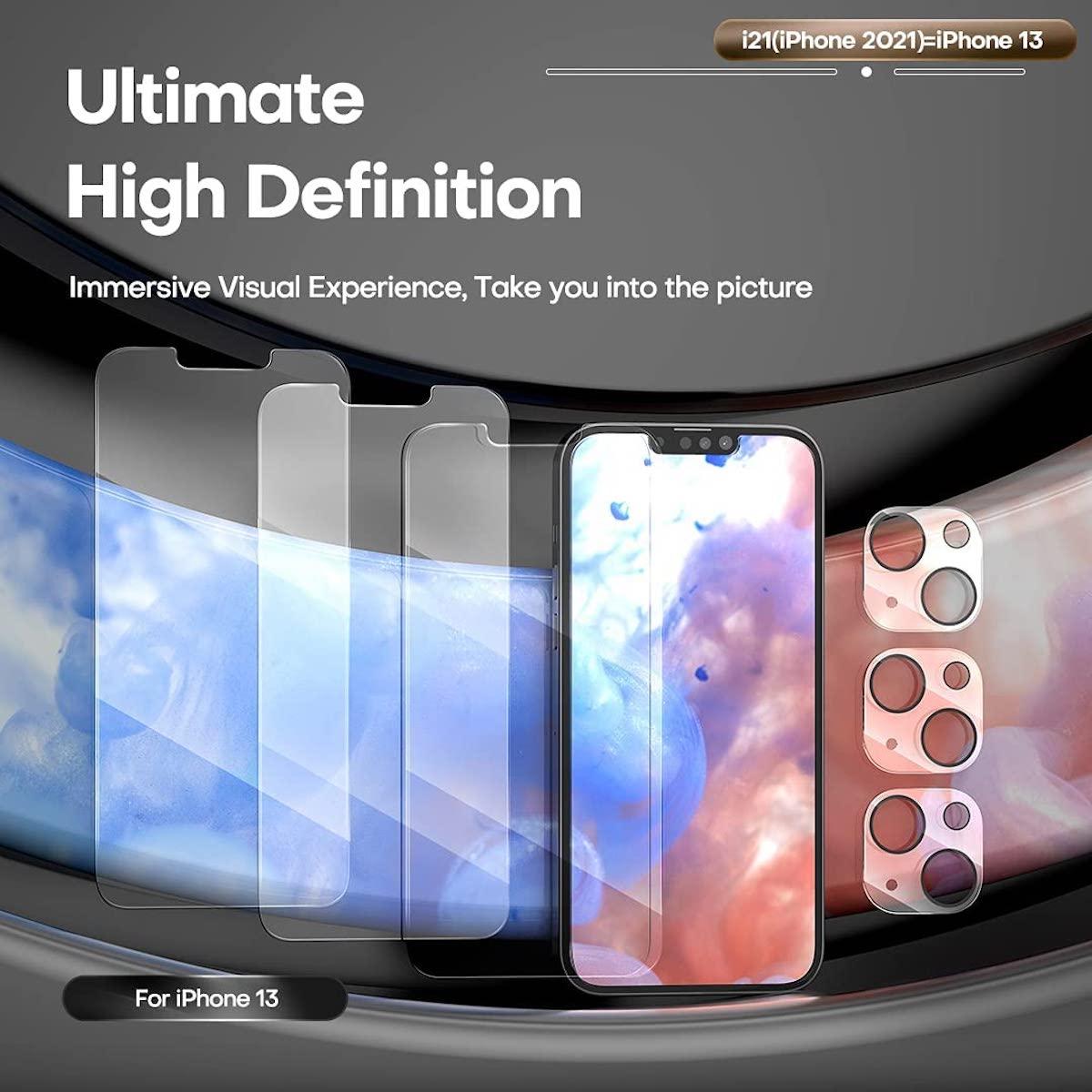Pellicola protettiva fronte-retro per iPhone 13, 6 pezzi sconto coupon a 7,99€