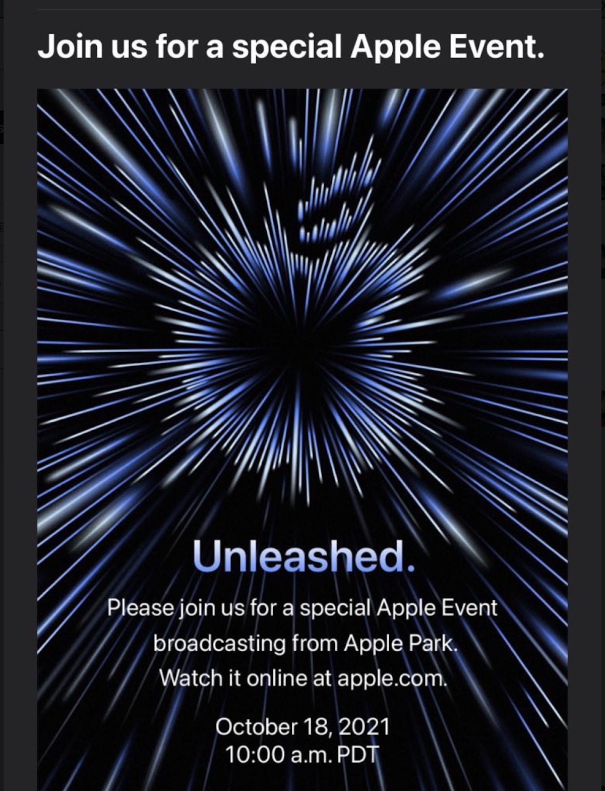 apple 18 ottobre unleashed00001